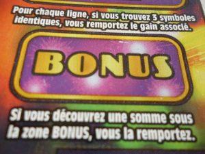 Le bonus à gratter