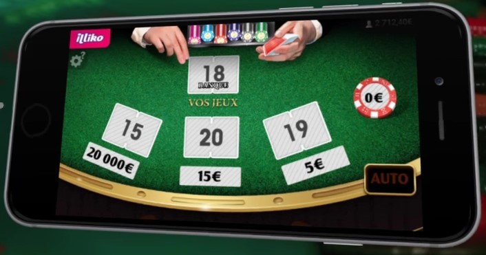 Aperçu du ticket de grattage Black Jack sur mobile