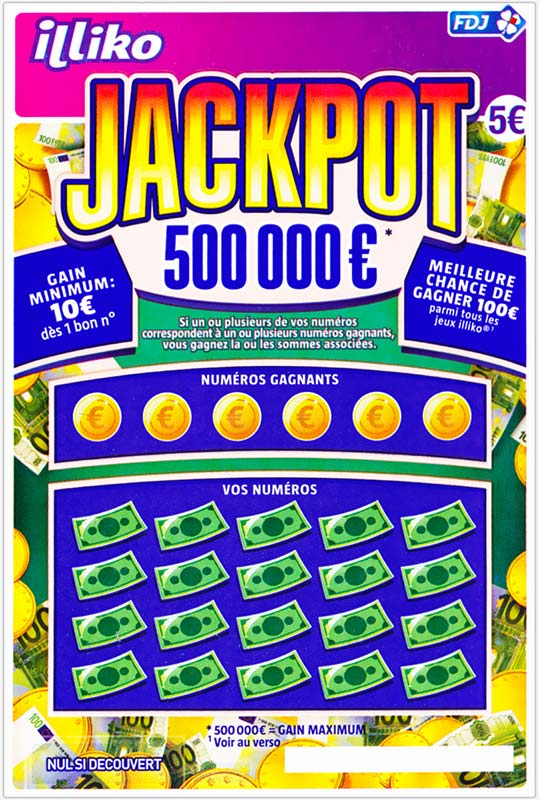 jackpot 500 000 que cache cet incroyable ticket gratter illiko. Black Bedroom Furniture Sets. Home Design Ideas