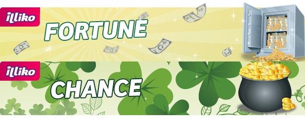 Les nouveaux Univers Fortune et Chance Illiko