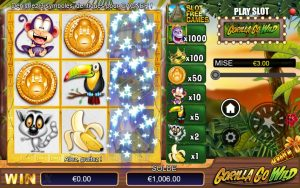 ticket de grattage Gorilla Go Wild Atlantic Casino