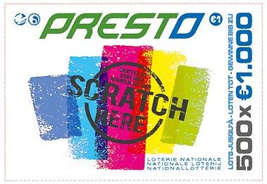 ticket à gratter Presto