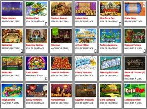 Tickets à gratter sur le site de casino Lucky 31