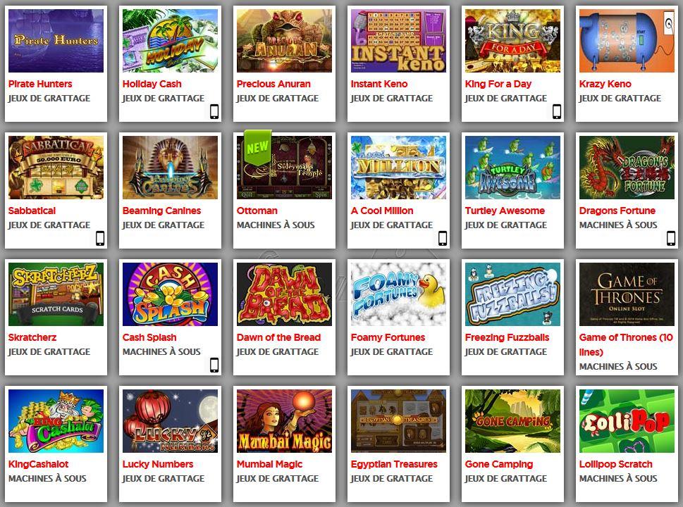 les sites des jeux gratuites