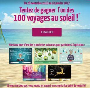 Participer au concours avec 100 voyages à gagner