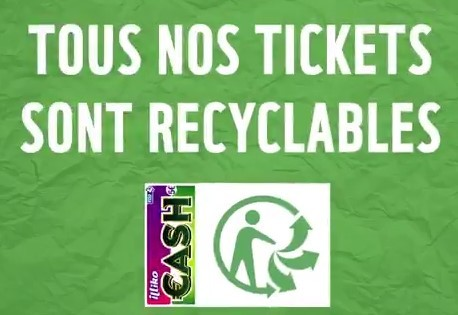 recyclage des tickets de grattage perdants