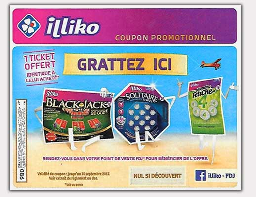 Coupon pour Promotion Grattage Illiko 2017