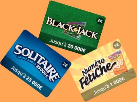 Opération promotionnelle ticket grattage Illiko Solitaire Numéro Fétiche Black Jack gratuit