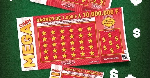 Aperçu du ticket de grattage le plus rentable Mega Cash pdjeux