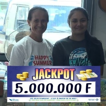 Gagnant du jeu Jackpot de Polynésie française