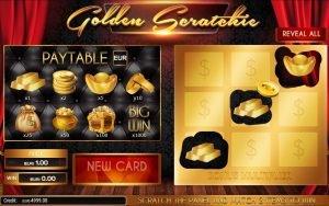 ticket de grattage online Golden Scratchie
