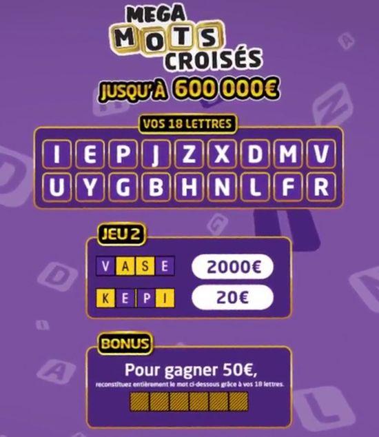 2e etape du jeu mega mots croises
