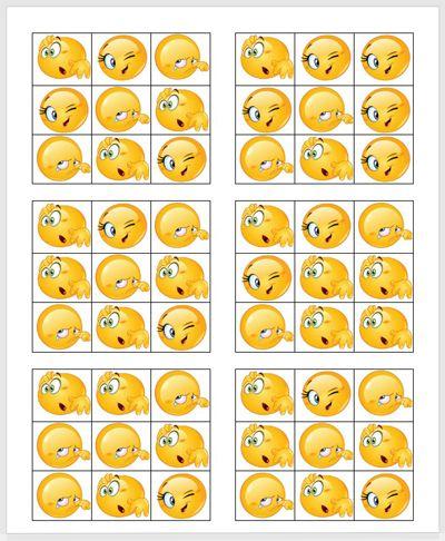 planche de cartes de smiles a gratter