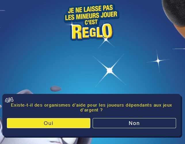 question numero 4 sur reglofdj