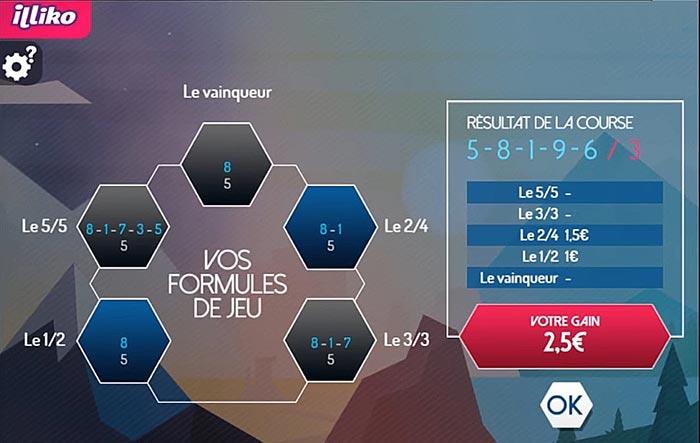 Les formules de jeux et les gains