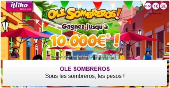 Promotion FDJ du jeu Olé Sombreros le + gagnant