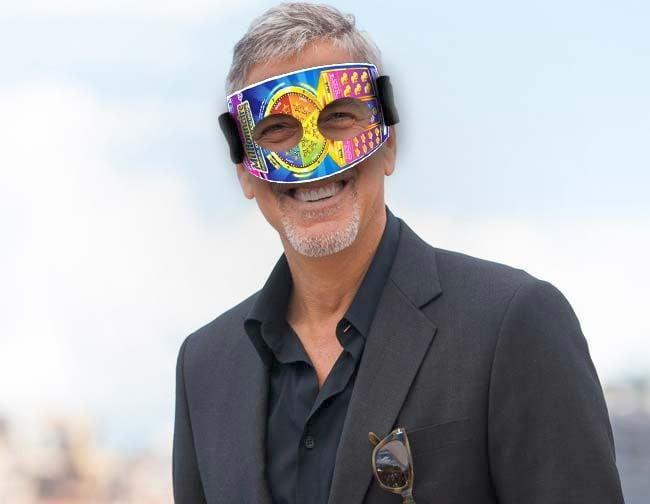 George Clooney voit aussi à travers un jeu à gratter