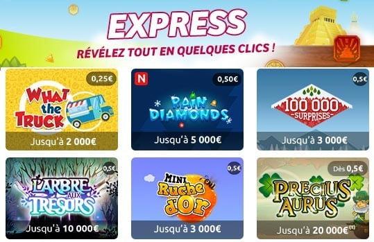 Quelques jeux Illiko Express parmi les moins chers