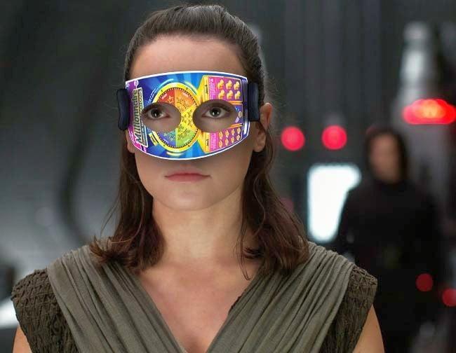 Rey controle la Force avec son masque à gratter
