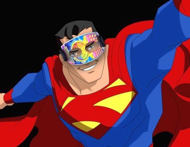 SuperMan multiplie sa force avec son masque de jeu de grattage