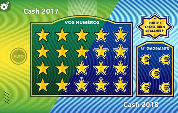 Comparaison du ticket Cash 2017 2018