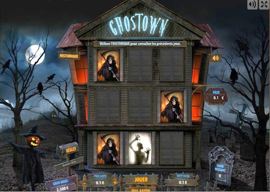 Jeu de grattage digital Ghostown