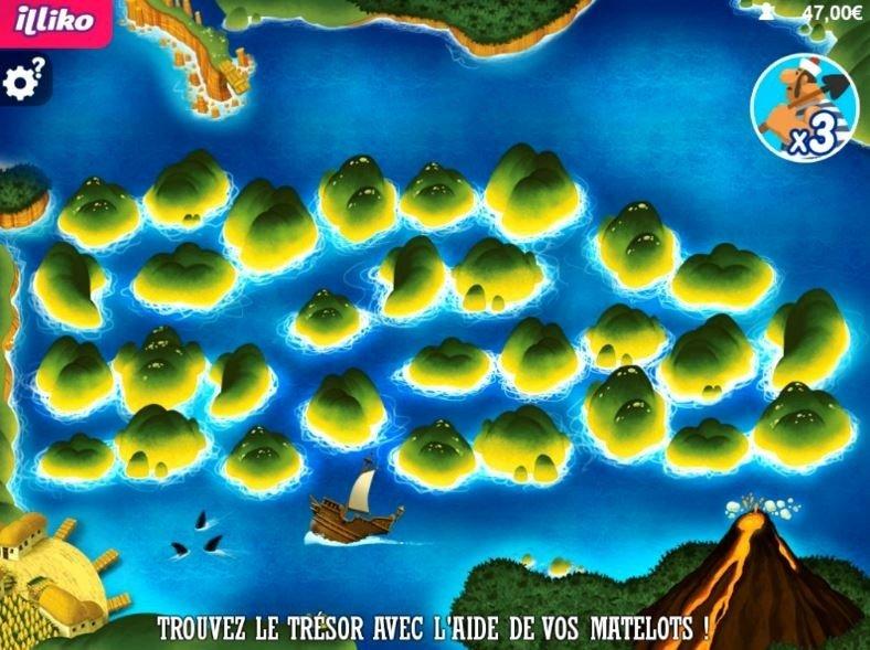 une partie de jeu L'Or des Caraïbes