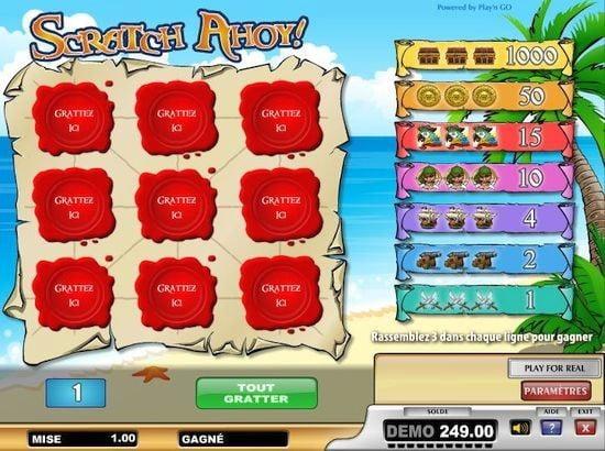 Aperçu du jeu Scratch Ahoy