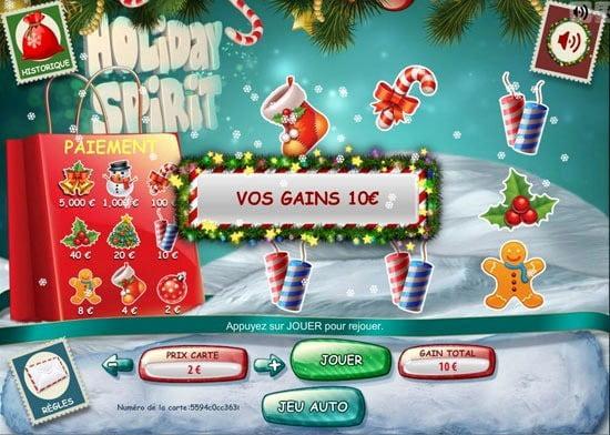 Ticket à gratter numérique Holiday Spirit