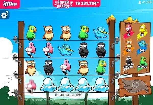 Les tristes oiseaux sur le jeu Golden Animals