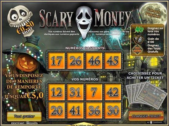 Aperçu d'une partie sur le jeu Scary-Money