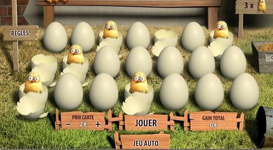 Jeu de grattage Chicken Coop