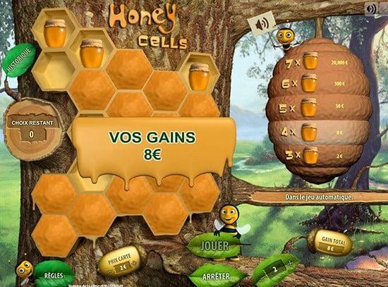 Aperçu d'une partie sur le jeu Honey Cells