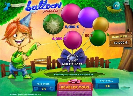 Une petite partie sur Ballon Party