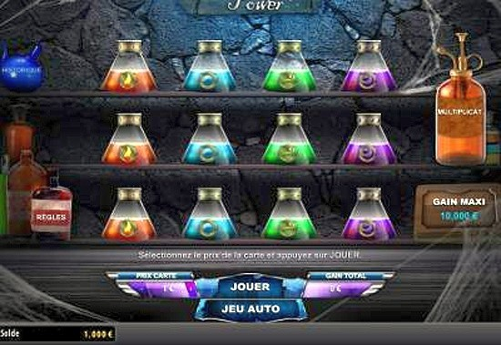 Le jeu Alchemy Power