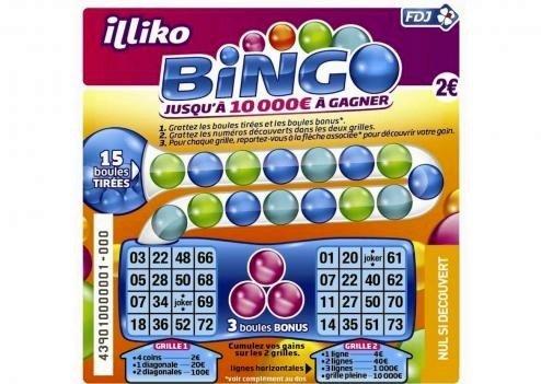 Bingo à gratter à 2 € FDJ