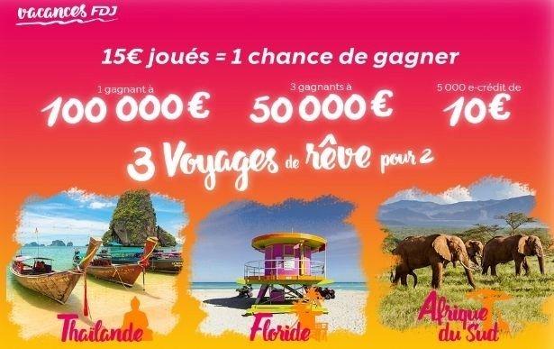 Participation opération promotionnelle Vos Vacances FDJ