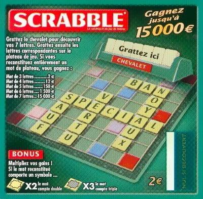 Le ticket à gratter FDJ Scrabble