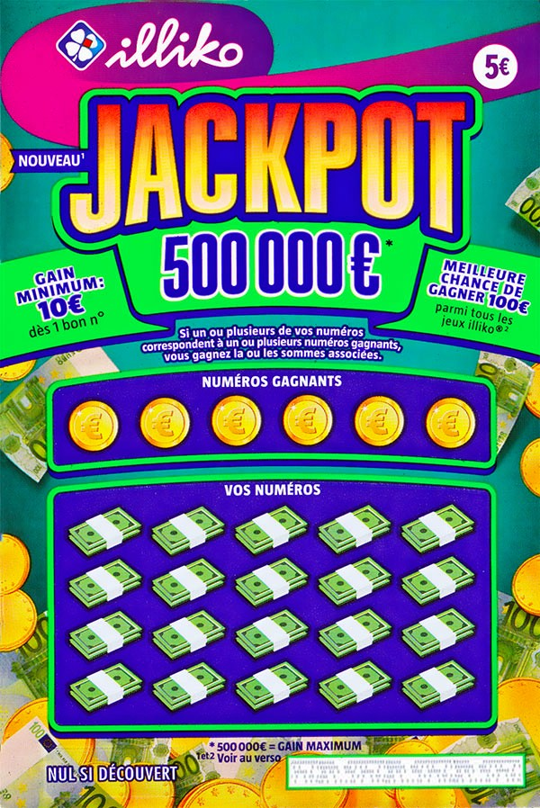 le ticket de grattage Jackpot Illiko