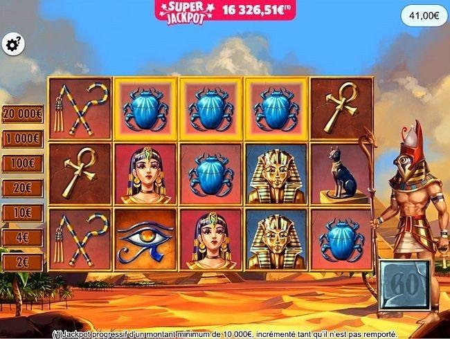 Les Mystères d'Horus - partie gagnée