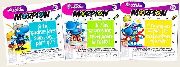 Les nouveaux tickets à gratter Morpion FDJ de 2018