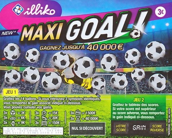 Ticket à gratter FDJ Maxi Goal