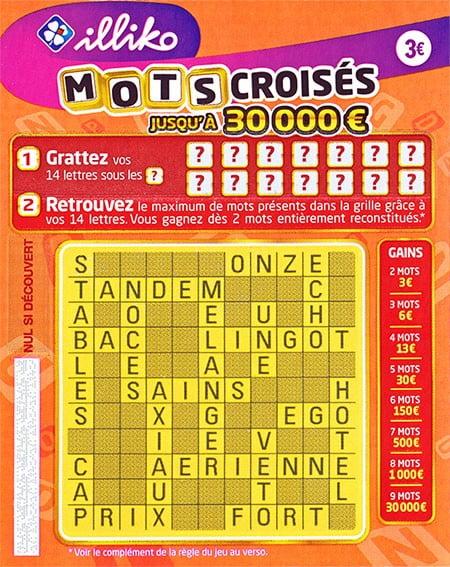 Nouvelle version du jeu Mots Croisés