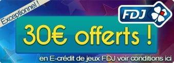 Bonus de 30 € de jeux gratuits