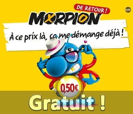 Coupon promotionnel Morpion offert