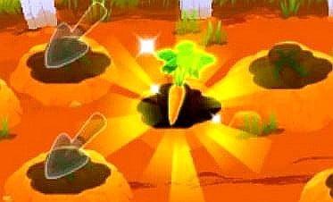 Trouver la carotte sur le jeu