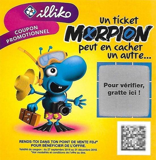 coupon promotionnel Morpion