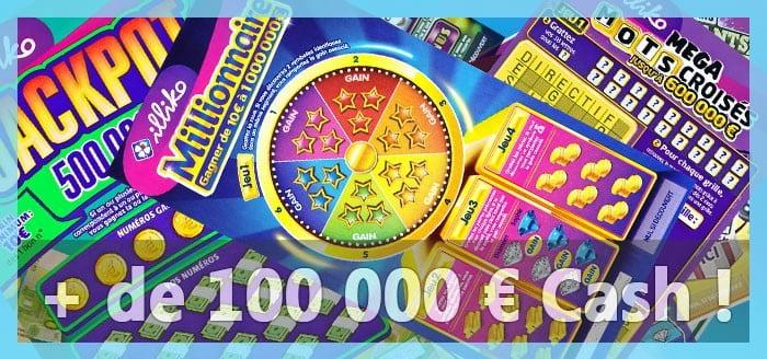 Comparatif des jeux d'argent avec des prix supérieurs à 100 000 € à gagner