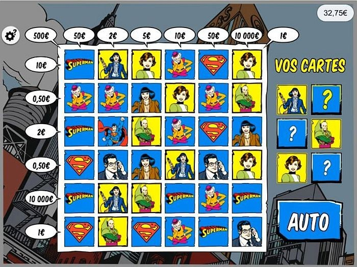 Le jeu Superman FDJ