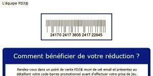 Réception du coupon promo FDJ chez soi